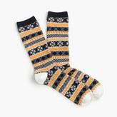 J.Crew Trouser socks in Fair Isle