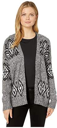 Vince Camuto Long Sleeve Fair Isle Open Front Cardigan