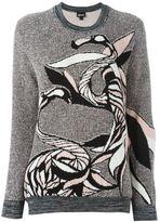Just Cavalli flamingo knit sweater