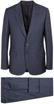 Paul Smith Mayfair Blue Checked Wool Suit