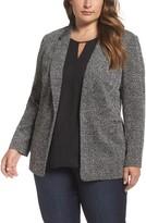 Vince Camuto Plus Size Women's Herringbone Jacquard Open Front Jacket