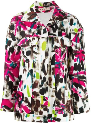 Marni Brush Stroke-Print Cotton Jacket