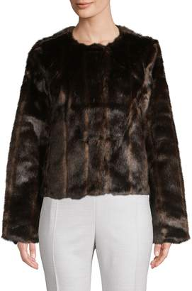 Bagatelle Striped Faux Fur Jacket