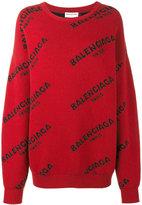 Balenciaga logo jumper - women - Wool - 36
