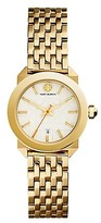 Tory Burch Whitney Watch, Gold-Tone Stainless Steel/Ivory, 28 Mm