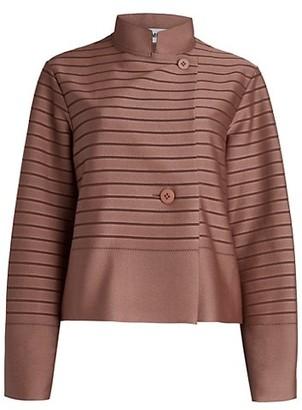 Issey Miyake Stripe Knit Jacket