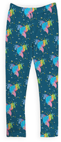 Urban Smalls Dark Teal Rainbow Unicorn Sublimated Leggings - Toddler & Girls
