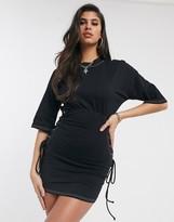 Asos Design DESIGN corset t-shirt dress with lace up detail