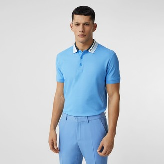 Burberry ogo Detai Cotton Pique Poo Shirt