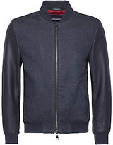Tommy Hilfiger Robin Mix Media Bomber Jacket, Navy