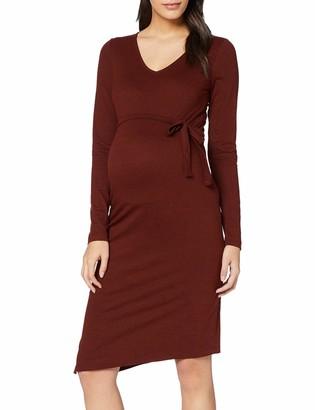 Mama Licious Mamalicious Women's Mlninna L/S Jersey Abk Dress A. V