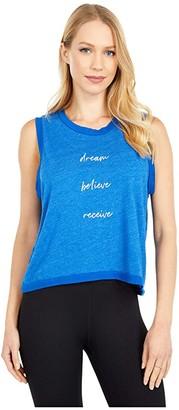 good hYOUman Erica Dream Believe Receive Tank (Montauk Blue) Women's Clothing