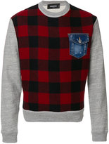 DSQUARED2 checked sweatshirt