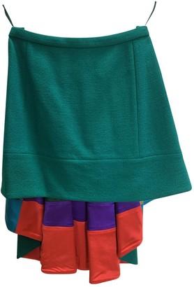 Louis Vuitton Green Wool Skirts