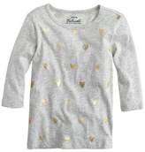 J.Crew Girls' foil heart T-shirt