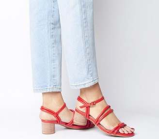 Shoe The Bear Aya Knot Sandals Coral Red