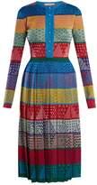 Mary Katrantzou Cecile striped wool-knit midi dress