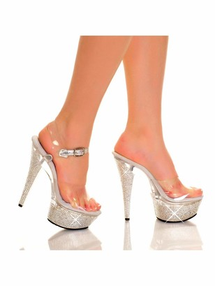 The Highest Heel Lola 11 Platform Sandals Rhinestone Base