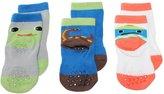 Nemo Kids Little Boys' Pack Of 3 Cute Funky Heel Cartoon Ankle Socks Non-Slip
