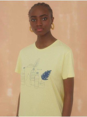 Nice Things Recycled Reuse Love T Shirt - Small / Light Yellow