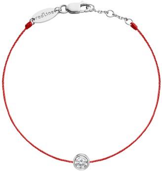 Redline Large Pure Diamond Red String Bracelet - White Gold