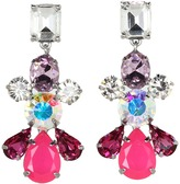 Juicy Couture Colorful Gemstone Linear Earrings (Pink) - Jewelry