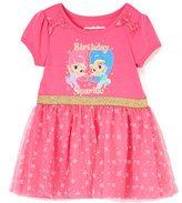 Children's Apparel Network Hot Pink Tulle-Overlay Dress - Toddler & Girls
