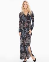 Soma Intimates Long Sleeve Maxi Dress with Side Slit Free Spirit Multi RG