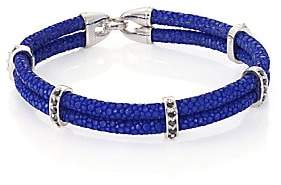 Black Diamond StingHD StingHD Men's Black Diamond, Silver& Stingray Wrap Bracelet