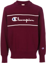 Champion logo panel sweatshirt