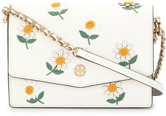 Tory Burch Robinson embroidered logo-plaque bag