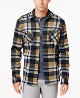 Weatherproof Vintage Men's Big and Tall Plaid Fleece Shirt Jacket, Classic Fit