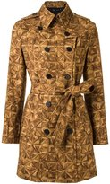 Andrea Marques - all-over print trench coat - women - Cotton/Spandex/Elastane - 38