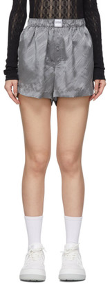 Eytys Grey Quin Monogram Shorts