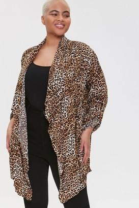 Forever 21 Plus Size Leopard Print Kimono