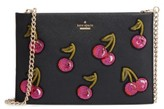 Kate Spade Ma Cherie - Cherries Sima Leather Shoulder Bag - Black