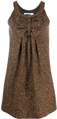 MSGM Ruched Detail Sleeveless Dress
