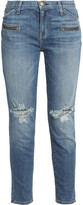 Thumbnail for your product : Current/Elliott Distressed Mid-rise Slim-leg Jeans