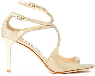 Jimmy Choo Ivette Mirrored-leather Sandals