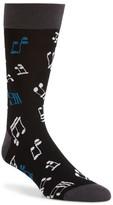 Bugatchi Men's Musical Note Socks