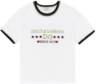 Dolce & Gabbana Kids Logo cotton-jersey T-shirt