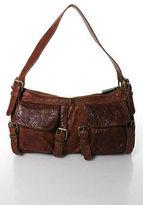 Kooba Brown Textured Leather Small Shoulder Handbag