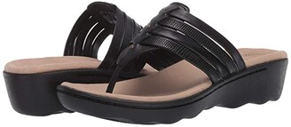 Clarks Phebe Carman (Black Leather/Synthetic Combi) Women's Shoes