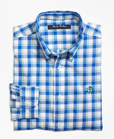 Brooks Brothers Cotton Plaid Sport Shirt