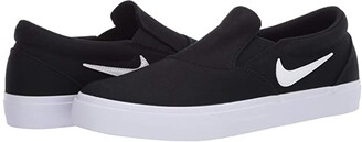 Nike SB Charge Slip (Black/White/Black/White) Men's Shoes