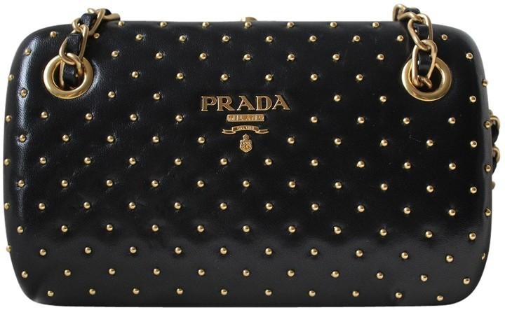 Prada Black Leather Clutch Bag