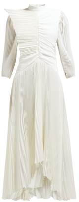 Givenchy Pleated Silk Crepe De Chine Gown - Womens - Ivory