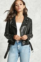 Forever 21 FOREVER 21+ Studded Faux Leather Jacket