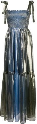 Cynthia Rowley Jade smocked lame dress