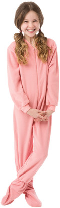 Big Feet Pjs Girls' Footies Pink - Pink Fleece Footed Pajamas - Infant, Toddler & Girls